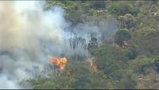 Un incendio amenaza un parque nacional al sur de Sidney