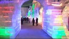 Espectacular festival de hielo en Pekín