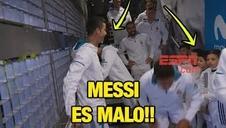 Cristiano Ronaldo y un niño sobre Messi: