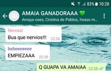 Amigos Amaia Romero whatsapp