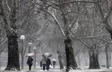 Nieve en Pamplona