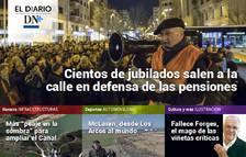 Los pensionistas navarros salen a la calle, en el Diario DN+