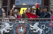 Recepción a Amaia en el Ayuntamiento de Pamplona