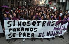 Manifestación en Tudela por el Día de la Mujer