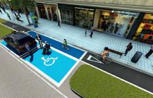 Recreación de un aparcamiento reservado en el futuro en Pío XII.