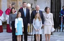 Los Reyes, en la misa de Resurrección en Palma