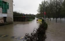 Imágenes de la crecida de los ríos en Pamplona y Comarca. DAVID GARCÍA