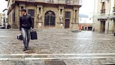 Fundación WOP presenta un 'flashmob' grabado en la plaza del Castillo de Pamplona