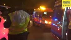 Un hombre de 31 años muere atropellado por un taxi en la M40 de Madrid