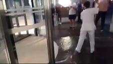 Inundación en el Hospital de Cruces