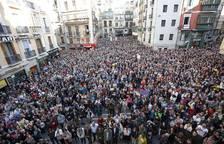 Concentraciones en Navarra contra la sentencia de 'La Manada'.