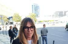 Noemí Galera, al llegar al hotel de Lisboa antes de asistir a Eurovisión 2018.