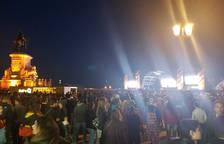 Así está ahora la plaza del Comercio de Lisboa