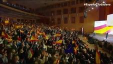 Marta Sánchez interpreta para Ciudadanos su versión del himno de España