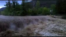 El río Esca a su paso por el valle de Roncal