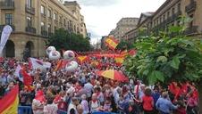 Final de la manifestación.