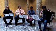 Presentación del nuevo Alarde de Txistularis, este lunes en el Palacio del Condestable de Pamplona