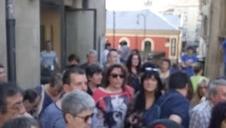 Concentración en Pamplona contra la puesta en libertad de 'La Manada'