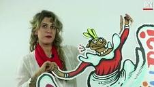 Adriana Eransus, autora del cartel de San Fermín, apoya 'San Fermín SÍ, San Fermin BAI'