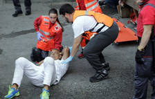 Jokin Zuasti, un corredor habitual, herido en el sexto encierro con los Victorianos del Río