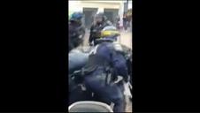 Detenido el jefe de seguridad de Macron por golpear a varios manifestantes
