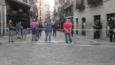 Cacerolada durante el desalojo del gaztetxe Maravillas en Pamplona