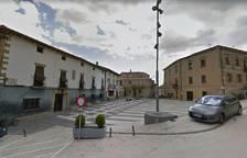 Plaza de los Fueros de Añorbe, lugar donde se produjo el atropello.