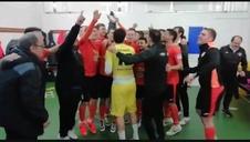 Los jugadores del Aspil Vidal celebran el pase a la Final Four de la Copa del Rey