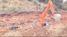 Una perforadora excava los dos túneles para llegar a Julen