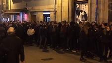 Protestas del Gaztetxe Maravilla ante el Palacio del Marqués de Rozalejo