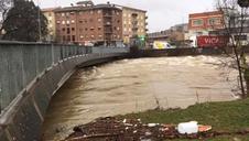 El río a su paso por Villava