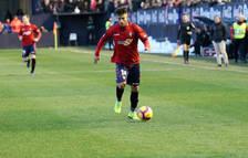 Rubén García fue el autor del gol de la victoria ante el Granada en El Sadar.