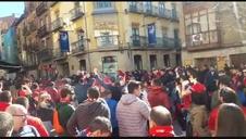Seguidores de Osasuna, en Soria