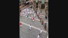 Vídeo del encierro simulado en Pamplona por la película Line Walker II