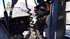 Complicado rescate de un montañero a 20 metros de la cima del pico Almanzor