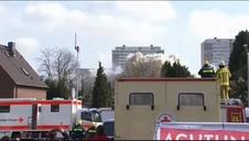 Impresionante demolición de un edificio de 22 plantas en Alemania