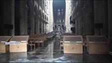 Imágenes de los daños en el interior de Notre Dame