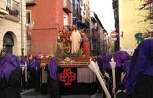 En la imagen, el paso de 'El Prendimiento', por la calle Bajada de Javier.