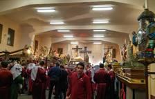 Los pasos ya 'descansan' en la sede de la Hermandad de la Pasión de Pamplona