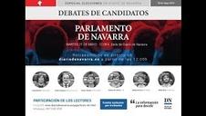 Retransmisión de vídeo en directo del debate de candidatos a la Presidencia de Navarra