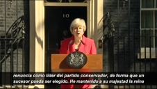 Theresa May anuncia su dimisión