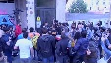 Los repartidores de Glovo protestan en las calles de Barcelona