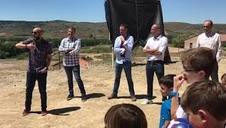 Inauguración de la pista polideportiva Patxi Puñal en Allepuz (Teruel)