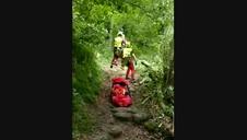 Vídeo del rescate de la senderista herida en Erraztu.