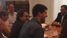 Reunión del PSN con Geroa Bai, Podemos e I-E