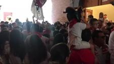 Tradicional acto del 'Bolo' en fiestas de Fitero