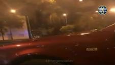 Un motorista arrolla a dos policías en un control para evitar carreras ilegales