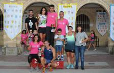 Foto de los premiados este sábado por la tarde en el trail de Caparroso.