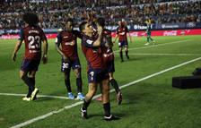 El Chimy Ávila celebra el gol que marcó este sábado ante el Villarreal.