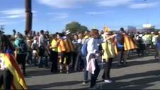 El independentismo inicia cinco marchas a pie contra la sentencia